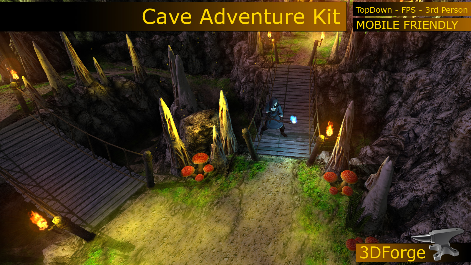 how to create a cave on unity